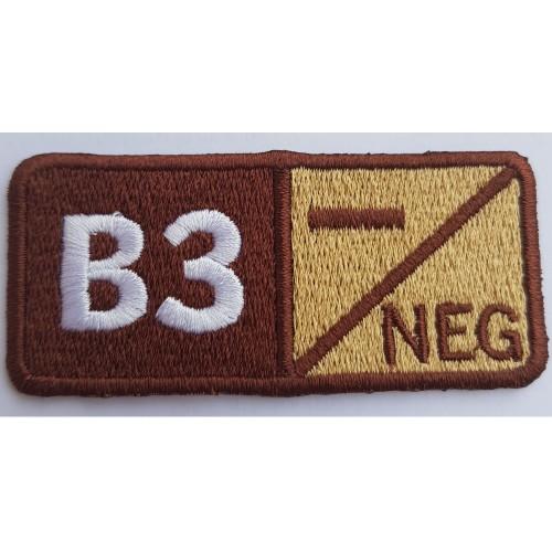 ECUSON GRUPA SANGUINA B3 NEGATIV
