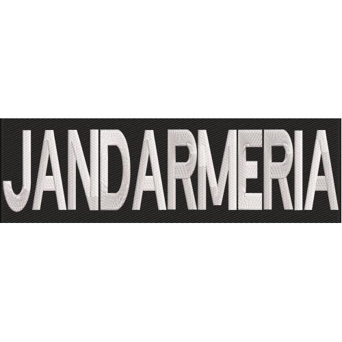 "Ecuson spate brodat "" JANDARMERIA """