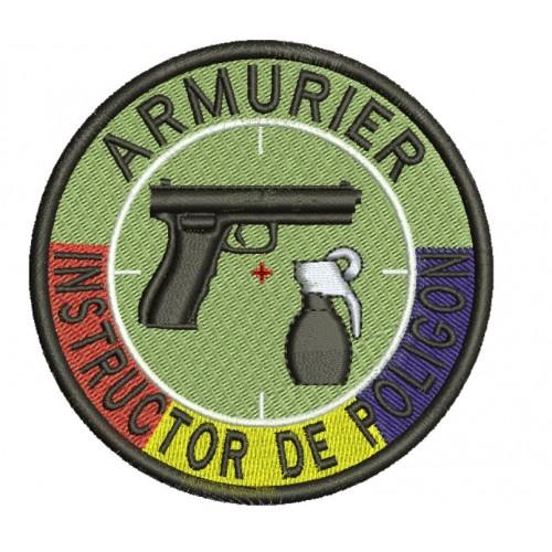 Emblema INSTRUCTOR POLIGON cu TRICOLOR