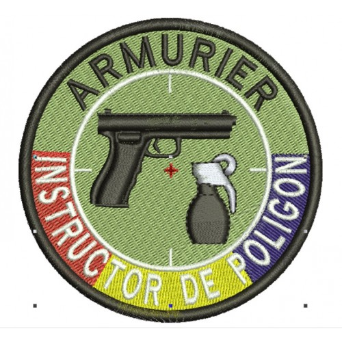 Emblema INSTRUCTOR POLIGON cu TRICOLOR - 2