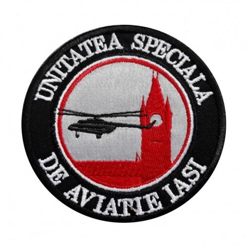 Patch-uri militare – EMBLEMA UNITATEA SPECIALĂ DE AVIAȚIE IAȘI – SIGLA BRODATĂ