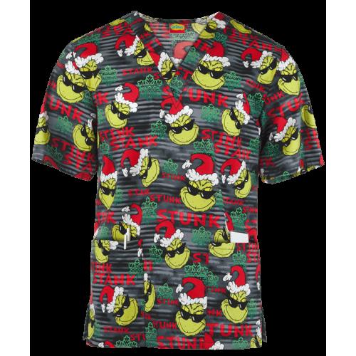 Bluza medicala   Grinch X-Mas   (CK606SEI)