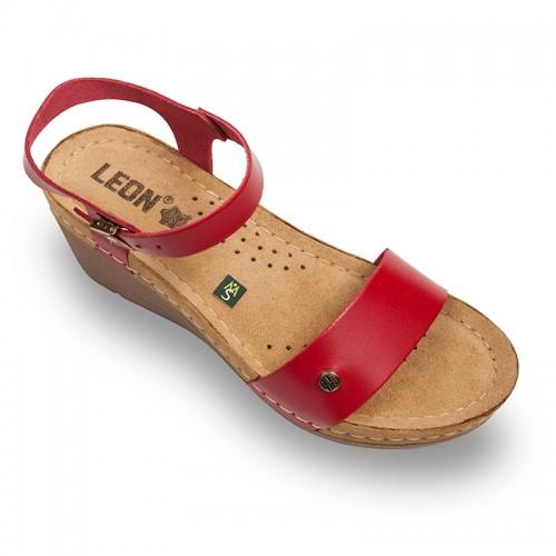 Sandale Leon 1015 rosu - dama