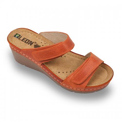 Papuci medicali Leon 1040 portocaliu - dama