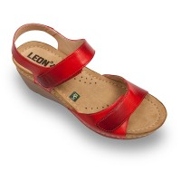 Sandale Leon 1041 rosu - dama
