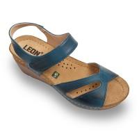 Sandale Leon 1056 albastru - dama