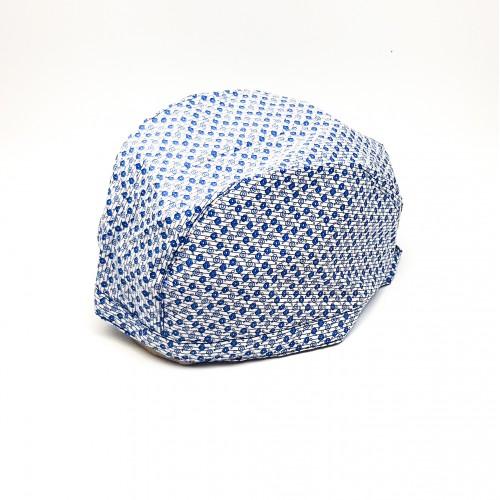 Boneta cu floricele albastre