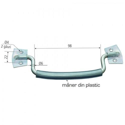 MANER MOBIL CU SUPORTI SIMPLI SI PROTECTIE PLASTIC 98MM