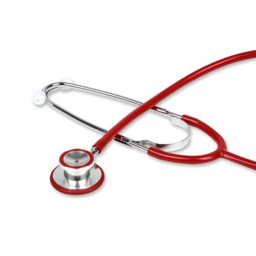 Stetoscop de aluminiu cu capsula dubla GIMA - rosu (32566)
