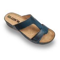 Papuci Leon 914 albastru - dama