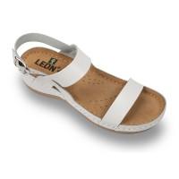 Sandale Leon 920 alb - dama