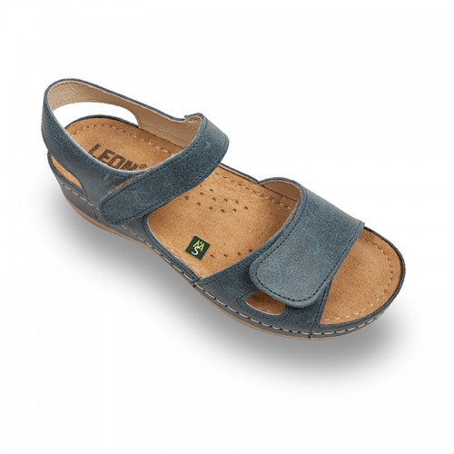 Sandale Leon 935 albastru - dama