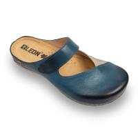 Saboti medicali Leon 953 albastru - dama