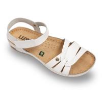 Sandale Leon 961 alb - dama