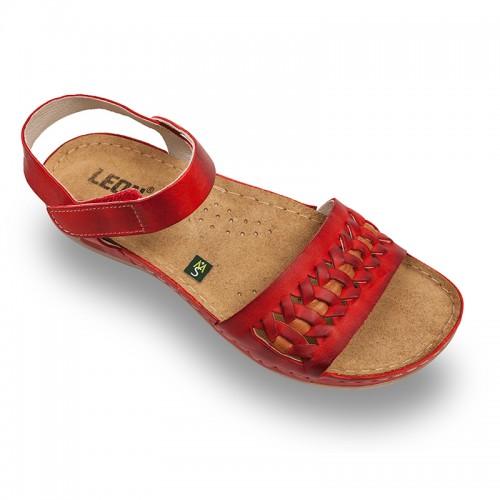 Sandale Leon 964 rosu - dama