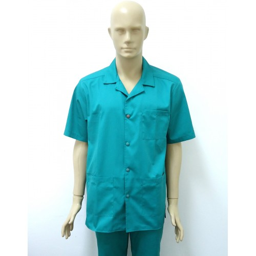 Halat cu rever verde chirurgical