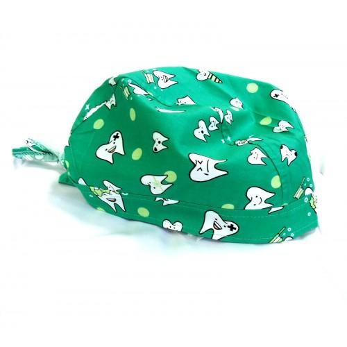 Boneta verde cu dintisori