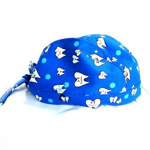 Boneta albastra cu dintisori