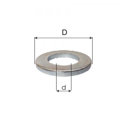 SAIBE ZINCATE INGUSTE M18 (19.1/34.0MM), 100/SET