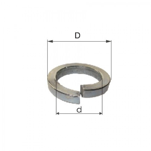SAIBE ZINCATE GROVER M10 (10.2/17.4MM), 500/SET