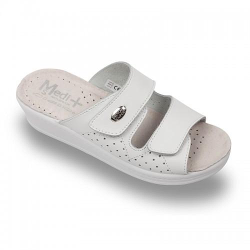 Papuci Medi+ 410SB alb - dama