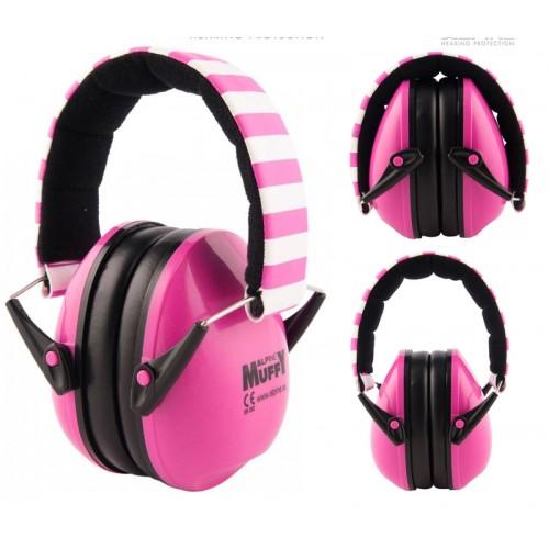 Aparator de urechi ALPINE MUFFY pt. copii Roz