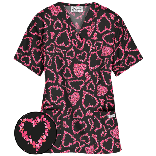 Bluza medicala   Heartfelt ribbon   (PC61HRB)