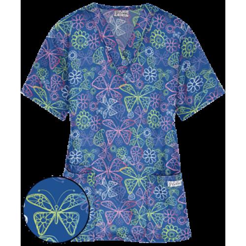Bluza medicala   Loopy Butterflies   (PC61LRO)