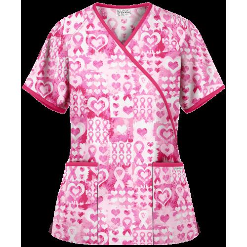 Bluza medicala   Pink ribbon passion   (WT668WPR)