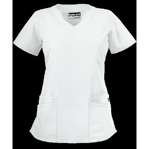 Bluza medicala   Scallop neck   (UAS194C)
