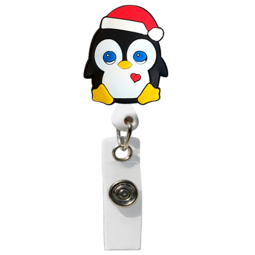 Ecuson retractabil 'Christmas Penguin'