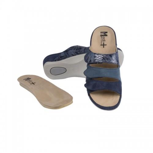 Papuci Medi+ 701-18-5 albastru - dama - cu taloneta detasabila