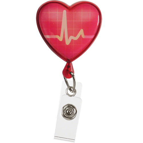 Ecuson retractabil 'EKG Heart'