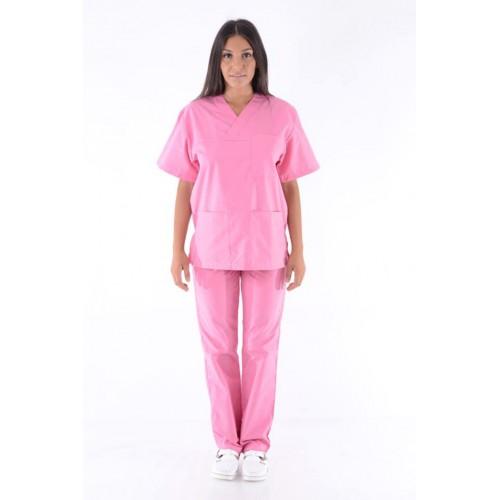 Costum medical roz deschis - unisex