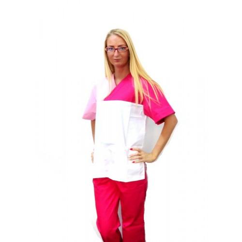 Costum 3 culori Ciclam-Roz