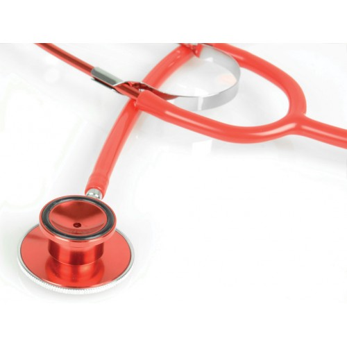 Stetoscop colorat cu capsula dubla Gima - Latex Free - rosu (51011)