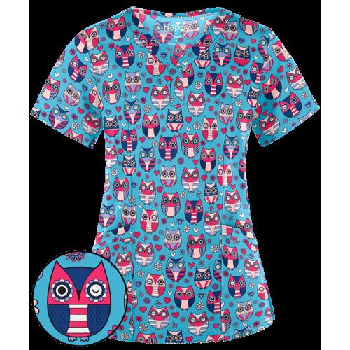 Bluza medicala 'Winky Owl' (TS913WOT)