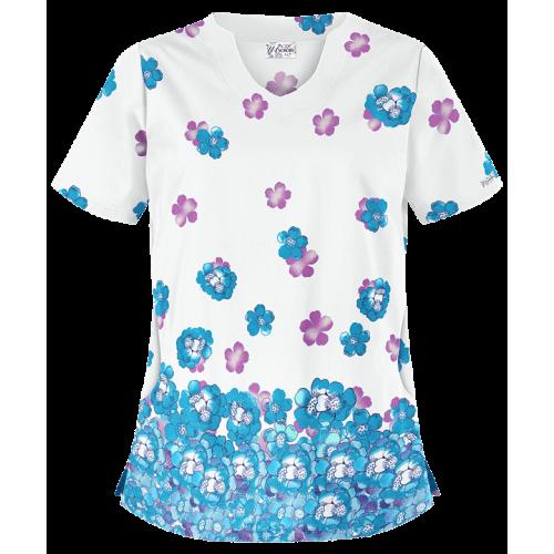 Bluza medicala   Cascading Blossoms   (UA197WCG)