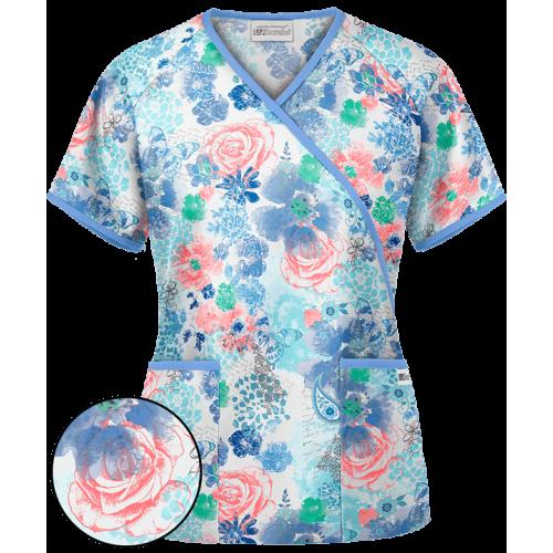 Bluza medicala 'Among the Flowers' (WT668ATF)