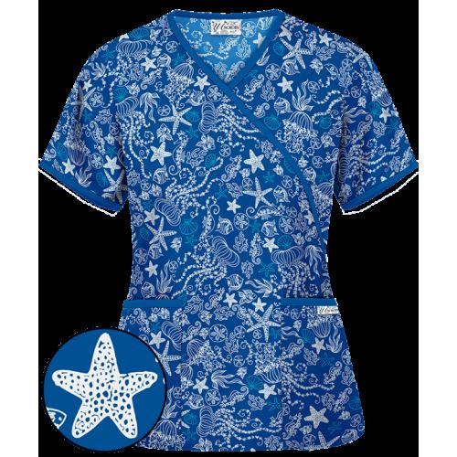 Bluza medicala 'Sea Party Royal' (WT668SER)
