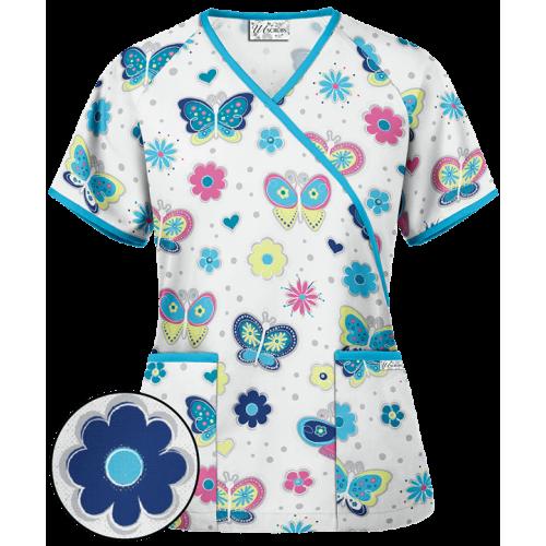 Bluza medicala 'Bodacious Butterflies' (WT668WBU)
